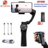 Snoppa Atom 3-Axis Pieghevole Tascabile Handheld Gimbal Stabilizzatore per il iPhone Smartphone GoPro & Wireless di Ricarica PK liscio 4