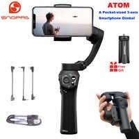 Stabilisateur de cardan de poche pliable à 3 axes Snoppa Atom pour Smartphone iPhone GoPro et charge sans fil PK lisse 4