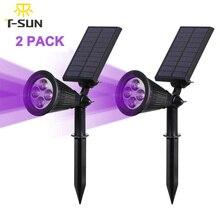 T-SUNRISE 2 PACK 4 LED Solar Spotlight 250LM solar led light outdoor garden party decoration powerful solar outdoor lamp Pink