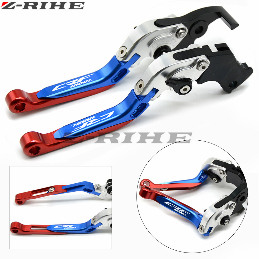 Adjustable Folding Extendable Motorcycle Brake Clutch Lever For HONDA CRF1000L CRF CRF1000 1000L 2015 2016 2017 Free shipping for honda crf1000l africa twin 2015 2018 foldable extendable clutch brake levers folding extending cnc 2016 2017 adjustable