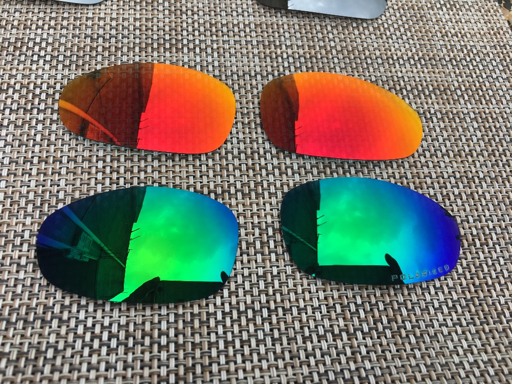 Men's Glasses Well-Educated 2 Pairs Fire Red & Jade Green Polarized Replacement Lenses Lens For Juliet Sunglasses Moderate Price