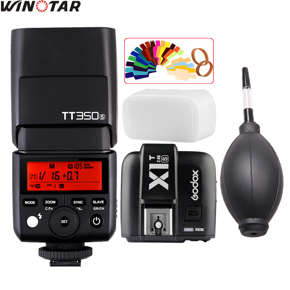 где купить Godox Mini TT350 TT350S 2.4G TTL Flash Speedlite + X1T-S Trigger for Sony Mirrorle DSLR Camera a77II a7R A6000 A6500 A99 A58 дешево