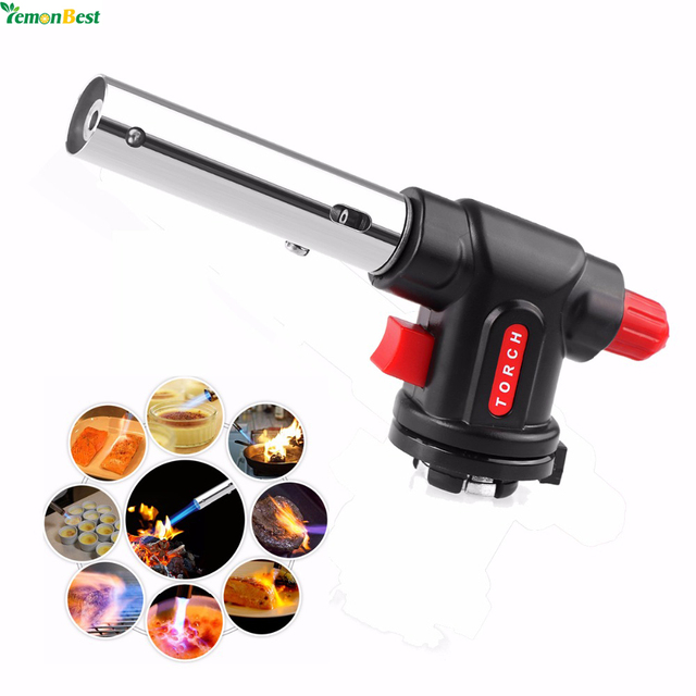 Multi Fungsi Kuliner Torch Flamethrower Butana Burner Auto Ignition Gas Untuk Camping Welding Bbq