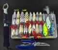 Набор рыболовных приманок  набор ложек  металлические приманки  плоскогубцы  жесткая наживка для пресной соленой воды  приманка для щуки  Мо...