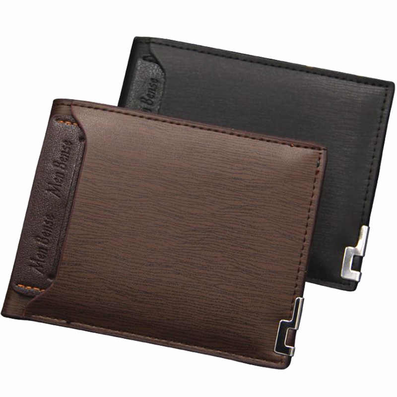 3b8a9855efc0 Fashion Short Men Wallets Leather Male Clutch Card Holders Slim Wallet Men  Cion Purse Money and