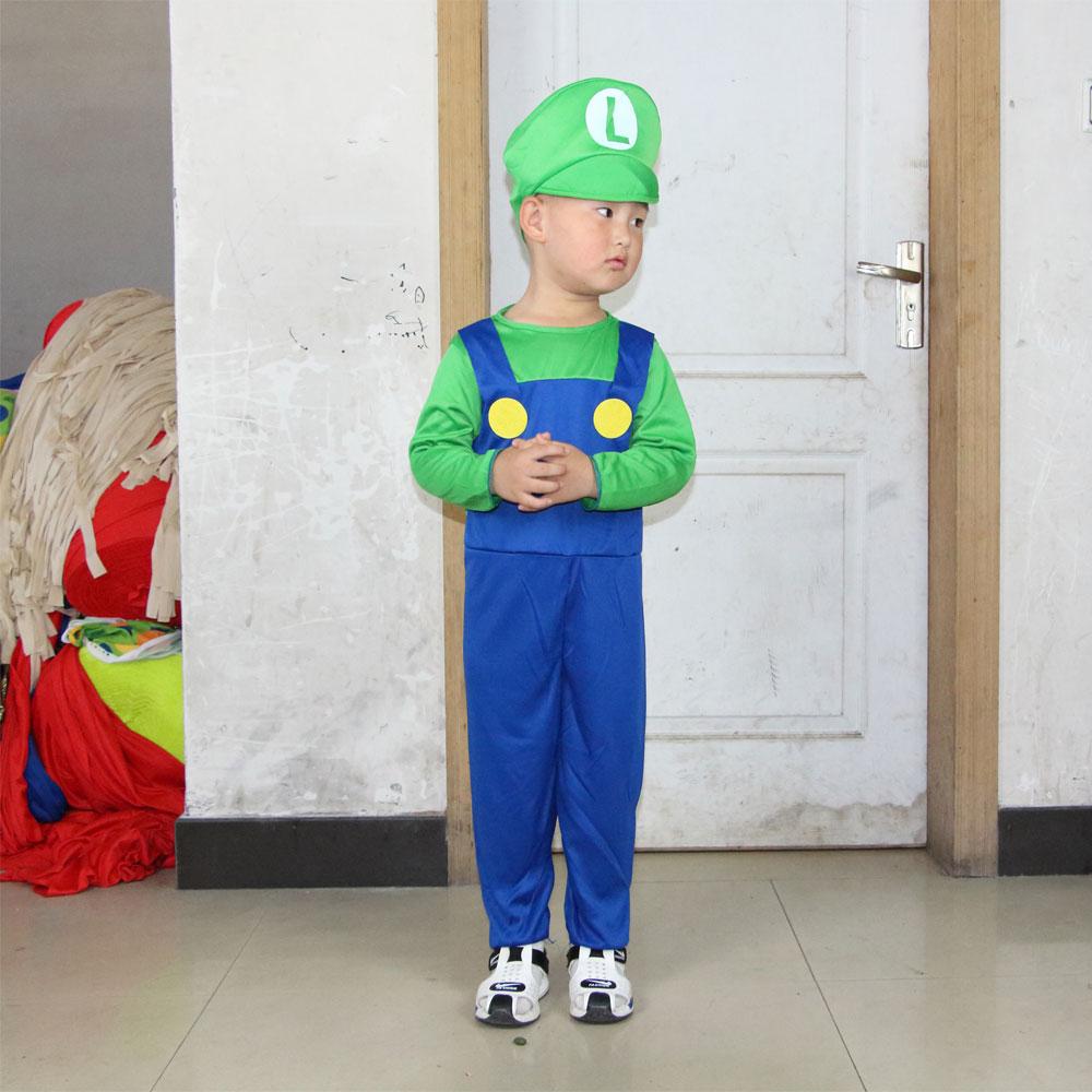 Umorden Halloween Costumes Super Mario Luigi Կոստյումներ - Կարնավալային հագուստները - Լուսանկար 3