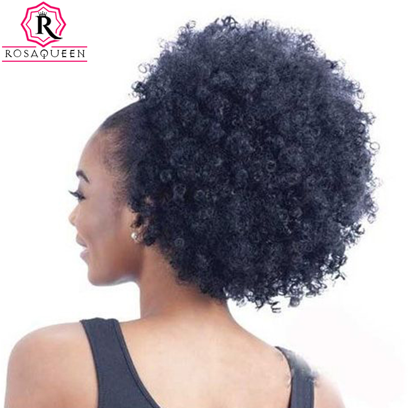 Kinky Curly Ponytail For Black Women Natural Afro Curly -6828