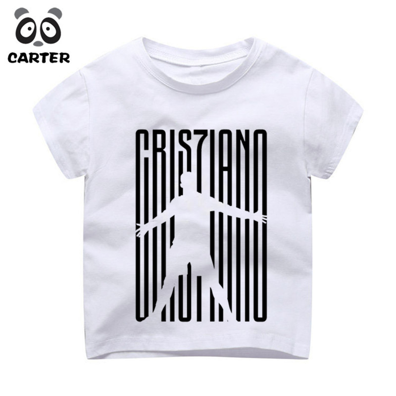 Kid's Cristiano Ronaldo Print T-shirts Boy and Girl Harajuku CR7 Tshirt Summer Baby Hipster Top Children Clothes женская футболка other 2015 3d loose batwing harajuku tshirt t a50