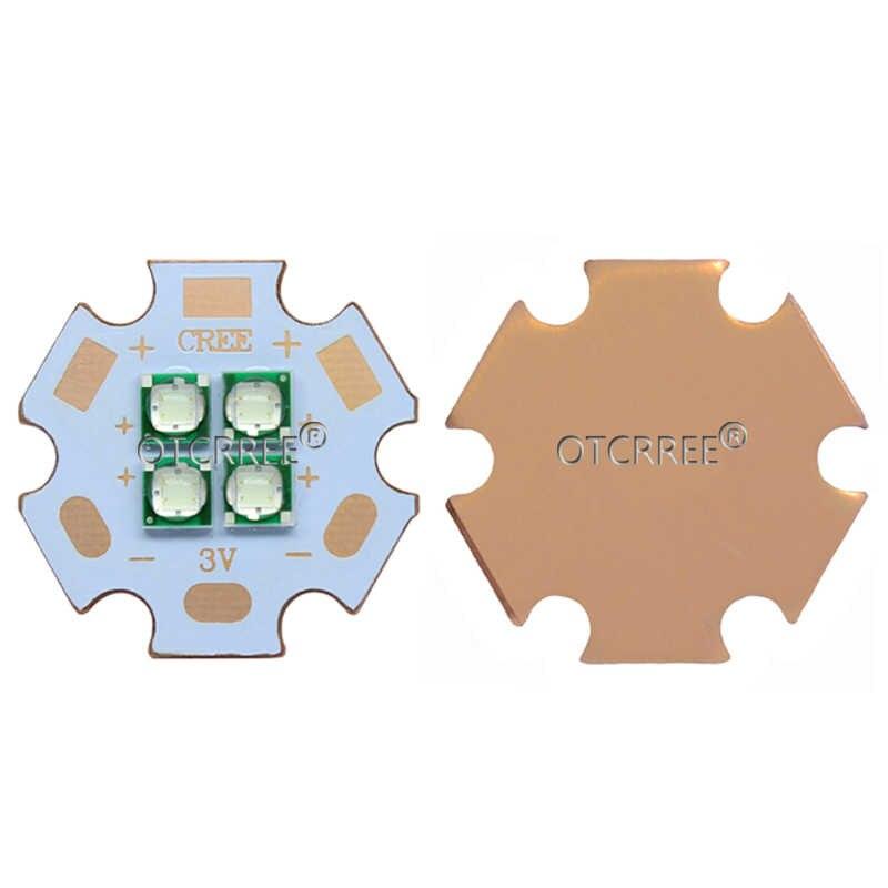10 Вт-12 Вт Epi светодиодный s 3535 голубой цвет 495-500nm 4 чипа 4 светодиодный s мульти-чип 3V6V12V высокой мощности светодиодный Диод-излучатель с 20 мм медной печатной платой