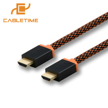 Cabletime Thunderbolt HDMI cable HDMI TO HDMI cable 2.0 4K 60hz adaptor converter 1-3m 5m audio extractor for PC display N047