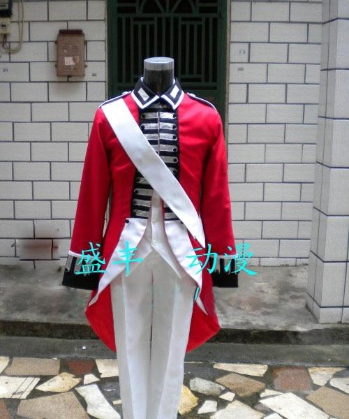 Axis Powers Hetalia Arthur Kirkland England Anime Cosplay Costume Custom Made Free Shipping