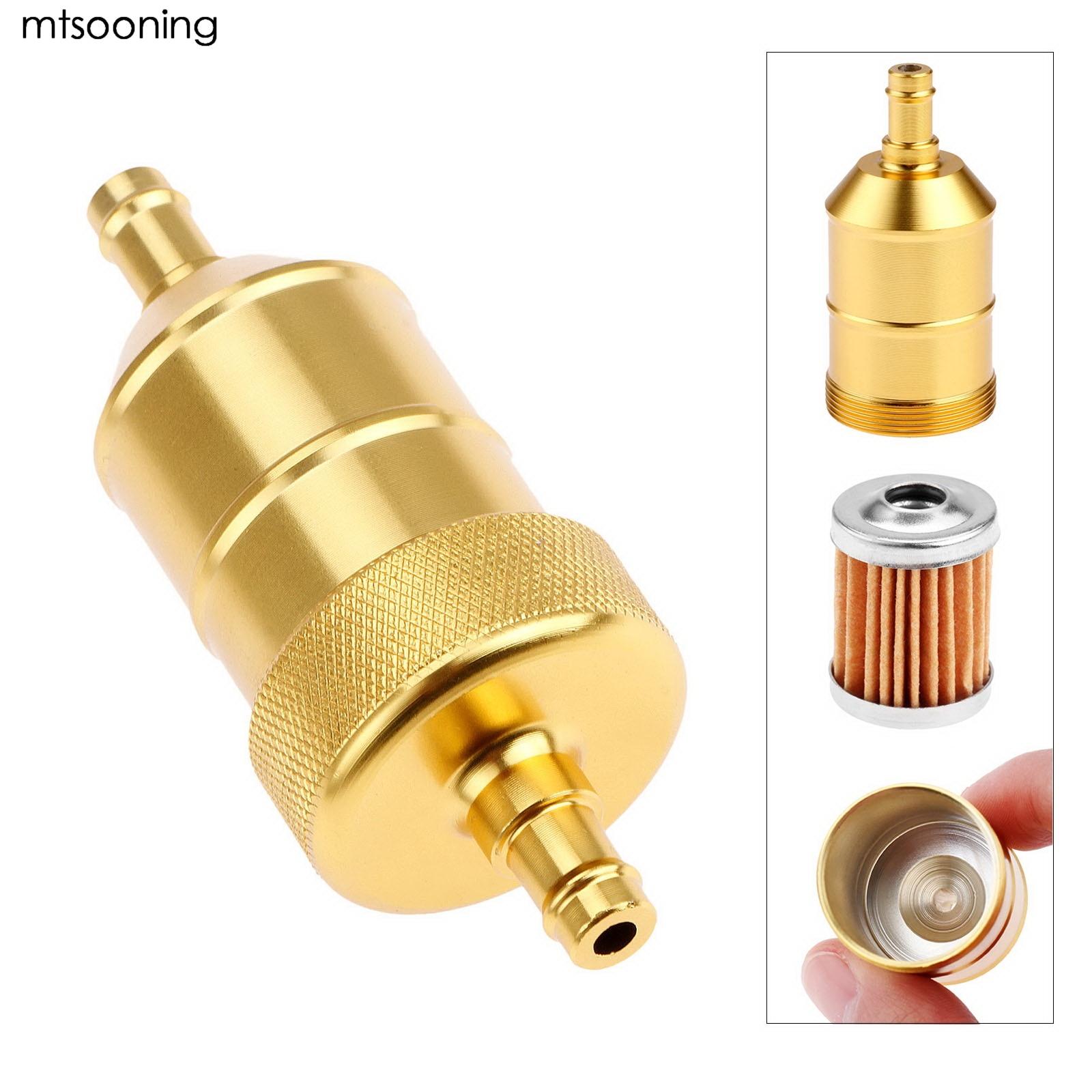 mtsooning 8mm petrol gas fuel filter cleaner gold new. Black Bedroom Furniture Sets. Home Design Ideas