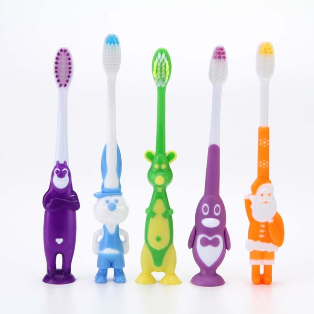 2Pcs Rainbow Toothbrush Oral Care Baby Soft-bristled Toothbrush for Children Training Toothbrushes Baby Dental Care