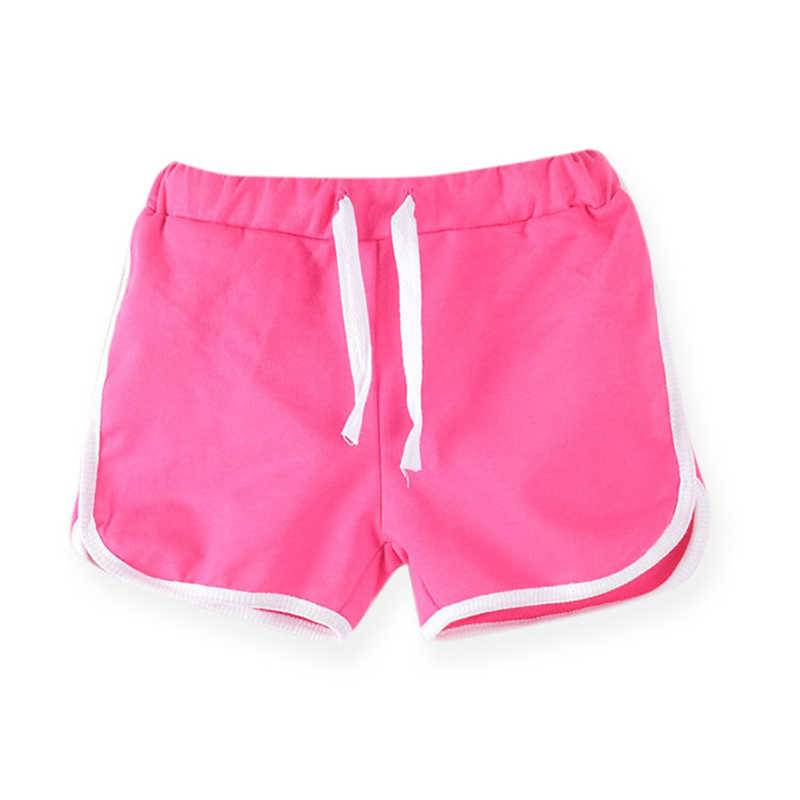 3-13Yrs Kids Shorts Boys Girls Summer Sport Shorts Pants Unisex Children Candy Color Casual Short Pants Trousers Bottoms