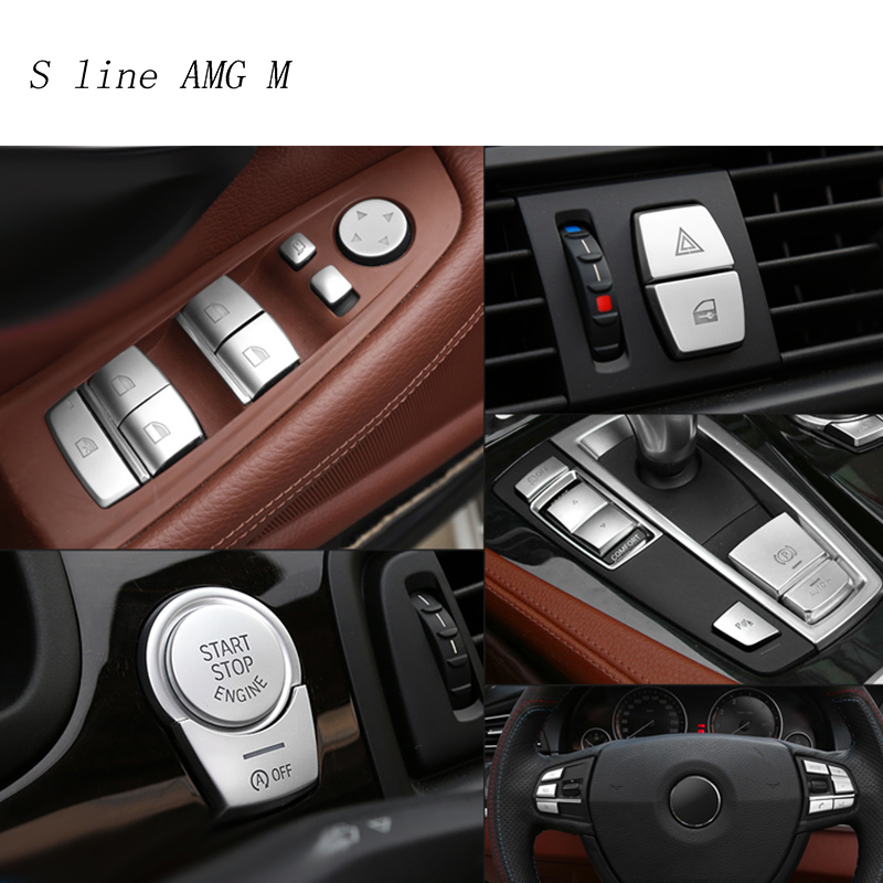 Car Styling interior Buttons Sequins Decoration Cover Trim Sticker Decals for BMW 5 series f10 f18 2011-2017 Auto Accessories car pendant handicraft dreamcatcher feather hanging car rearview mirror ornament auto decoration trim accessories for gifts 30cm