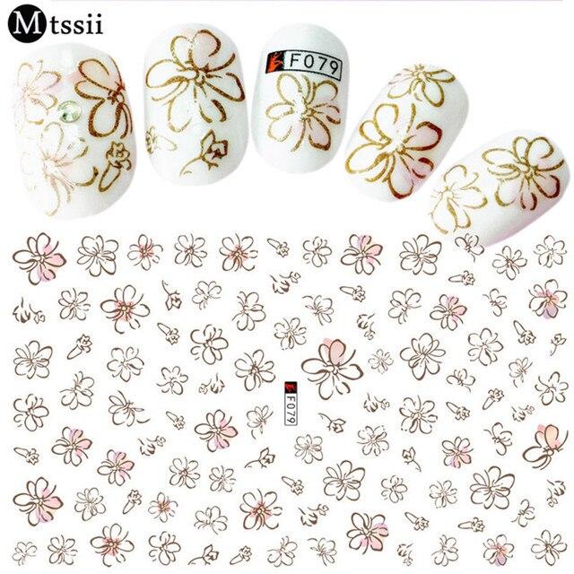 Top Mtssii Graphique Fleur Lapin Décalque de L'eau Nail Sticker Ligne  LK01