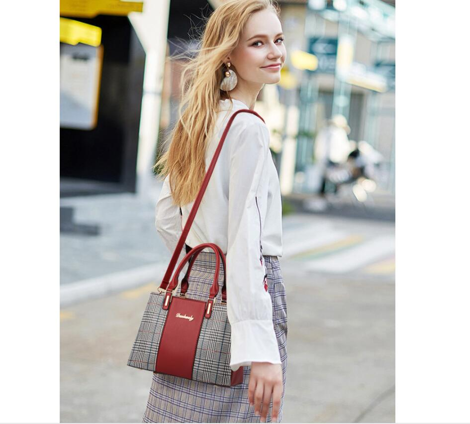 MICKY KEN 2020 new ladies office handbag Fashion ladies shoulder bag Houndstooth stitching womens messenger bag Wild female bag