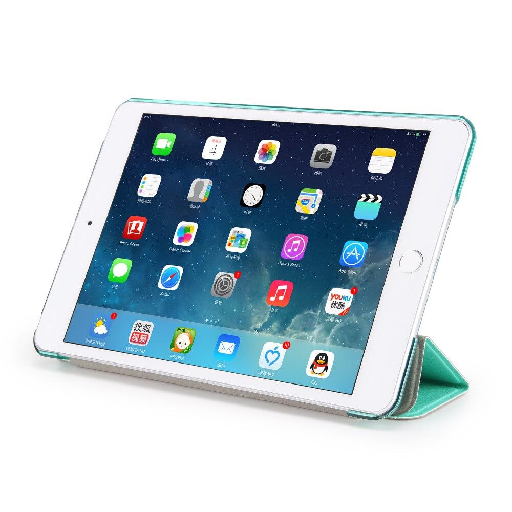 GOLP Case for iPad Mini 1 2 3 Perfect Fit Silk Pattern PU Leather Smart Case Translucent Hard PC Back Cover for iPad Mini 1 2 3