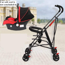 Newborn Baby Car Seat Stroller Carts Light Folding Portable With Children's Car Safety Seat Basket Steel Highland Baby Car Frame