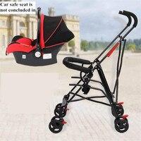 Newborn Baby Car Seat Stroller Carts Light Folding Portable With Children's Car Safety Seat Basket Steel Highland Baby Car Frame