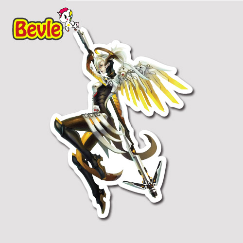 Bevle 9115 OW Shooting Game Mercy Fashion Stickers Geezer Notebook Waterproof Tide 3M Sticker Fridge Skateboard