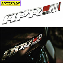 New 3D Metal Auto Car APR Stage III+ Emblem Badge Car Sticker For Audi R8 RS4 RS5 A4 A5 Porsche Volkswagen Golf 6 Car Styling(China)