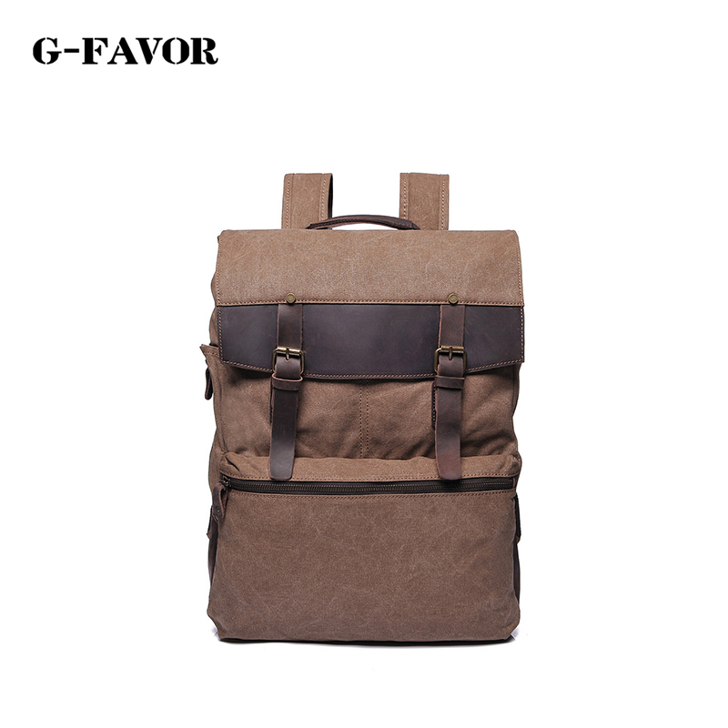 Brand KAKA Travel Backpack Men Canvas Backpack Luxury brand Men Laptop School Shoulder Bag Water Proof Notebook Travel back Bag 2017 new kaka brand men s backpack bag brand 15 6 inch laptop notebook mochila for men waterproof back pack school backpack bags