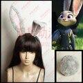 Linglong más reciente película Zootopia conejo oídos Cosplay Zootopia Judy Cosplay cola cola de conejo rosa oreja de conejo