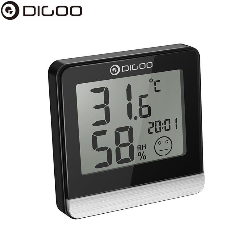 Digoo DG-BC20 Bathroom LCD Digital Thermometer Time Comfort Level Display IP45 Waterproof Temperature Sensor Hygrometer Monitor