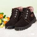 2016 Nueva Manera Del Bebé de Invierno de Nieve Botas de Piel de Los Niños Niñas Zapatos Calientes Infantiles Geanuine Cuero Impermeables botas de Nieve Zapatillas de Deporte