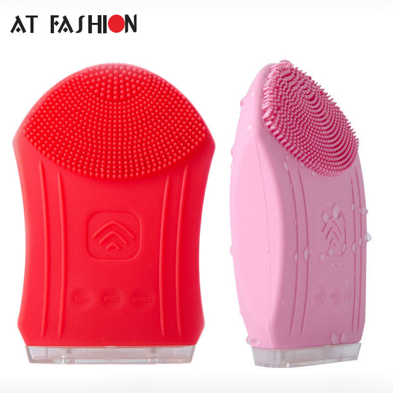 Electric Facial Cleanser Vibrate Ultrasonic Pore Clean Silicone Cleansing Brush Massager Face Skin Care Waterproof Spa Massage msq face brush cleansing multifunction wash spa skin care massage face brushes facial cleanser tool deep cleaning brush