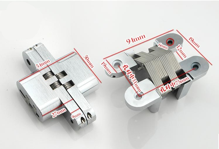 Heavy duty Self-closing Invisible Spring Closer Door Hinge Invisible Hinges load 20kg 2 pieces viborg top quality sus304 stainless steel inset hinge soft close self closing cabinet cupboard door hinges inset