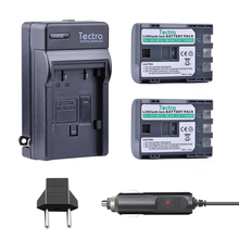 Tectra 2PCS NB-2L/NB-2LH 1100mAh Li-ion Digicam BATTERY + Digital Charger + Automobile Plug for CANON digicam 350D 400D G7 G9 S30 S40 z1