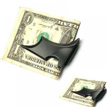 Fashion Unisex Bat Shape Money Clips Animal Prints Zinc Alloy Metallic Ringgit Dollar Cash Clamp Simple Holder Wallet Money Clips