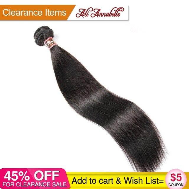 """עלי אנאבל שיער ברזילאי ישר שיער טבעי 100% רמי שיער Weave חבילות 1/3/4 PCS טבעי שחור 10 """"-28"""" אינץ משלוח חינם"""