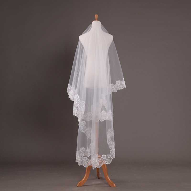 Boda nupcial 2 metros 3 metros de largo una capa velo elegante accesorios de boda