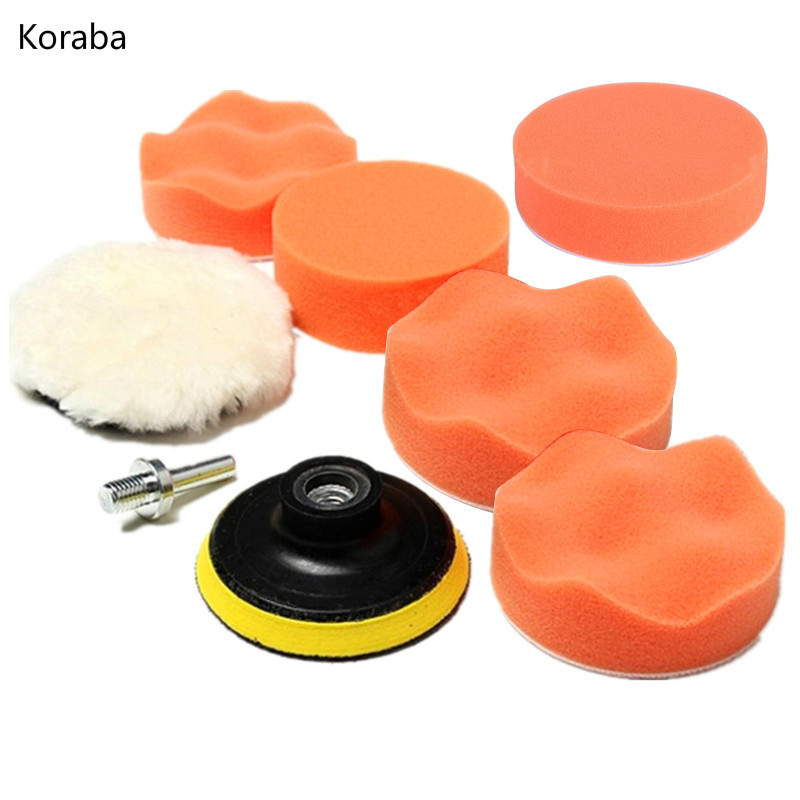 8pcs 8CM Polishing Buffing Pad Kit for Auto Car Polishing Wheel Kit Buffer With Drill Adapter Car Removes Scratches ...
