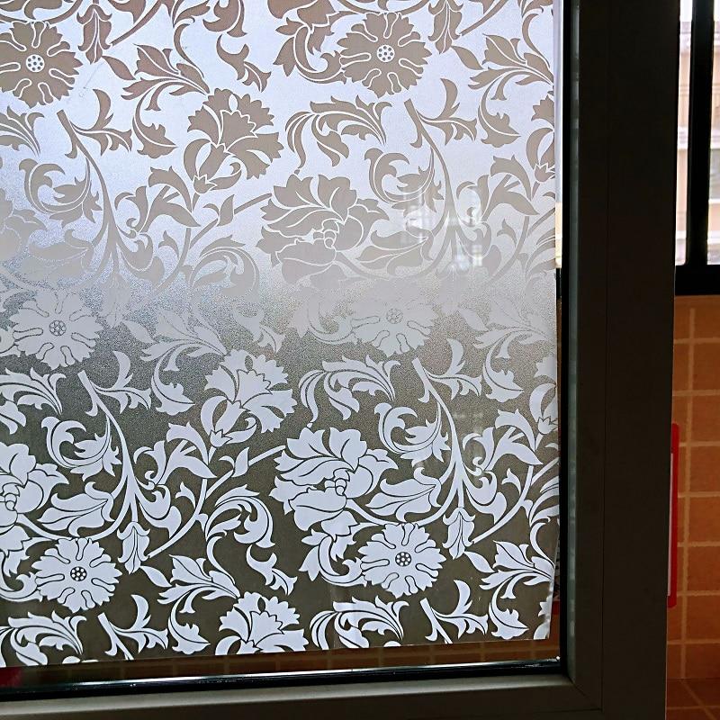 فیلم های پنجره یخ زده ضخیم و رنگی برای توالت و شیشه های دفتر (عرض 60/75 سانتی متر * طول 300 سانتی متر) 9515
