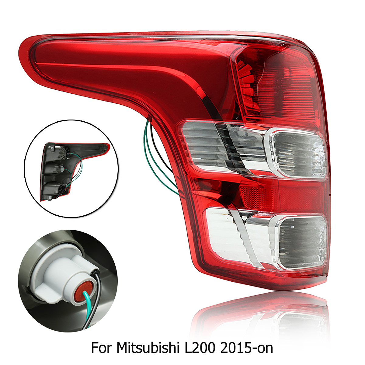 все цены на Left Side Red Tail Light Lamp for Mitsubishi L200 2015-on for Triton for Fiat for Strada онлайн