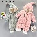 Bebé traje de nieve niños niñas mono invierno grueso mameluco recién nacido bebé niño ropa linda con capucha ropa de abrigo