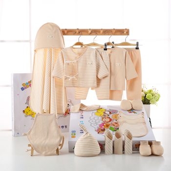 18PCS/set newborn baby girls clothes Organic Cotton 0-6months infants baby girl boys clothing set baby gift set without box