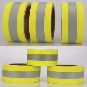 Image 2 - 5 センチメートル幅反射火炎 retardatn テープ黄色シルバーと 100% 綿手袋用送料無料