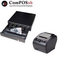 POS cash register equipment 80MM printer and 410MM cash drawer