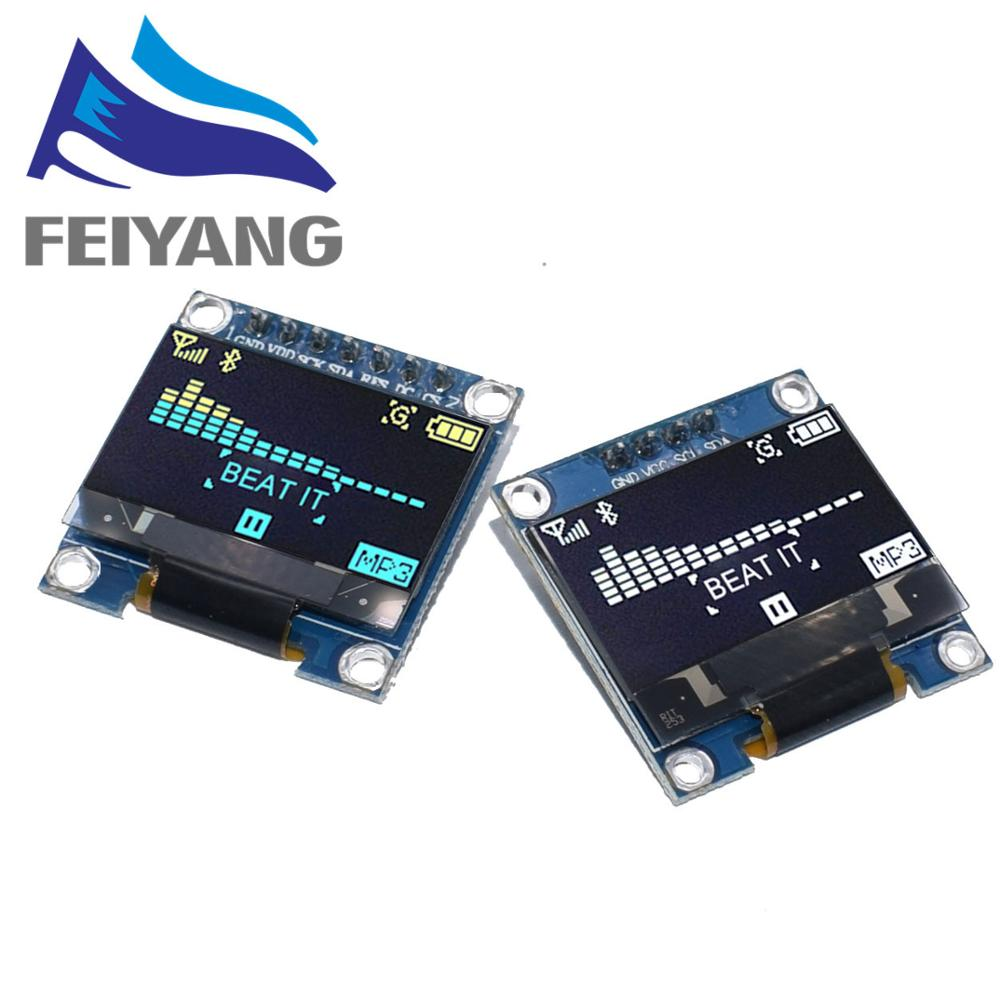 100PCS 4pin 7pin White/Blue/Yellow Blue Color 0.96 Inch 128X64  OLED Display Module For Arduino 0.96