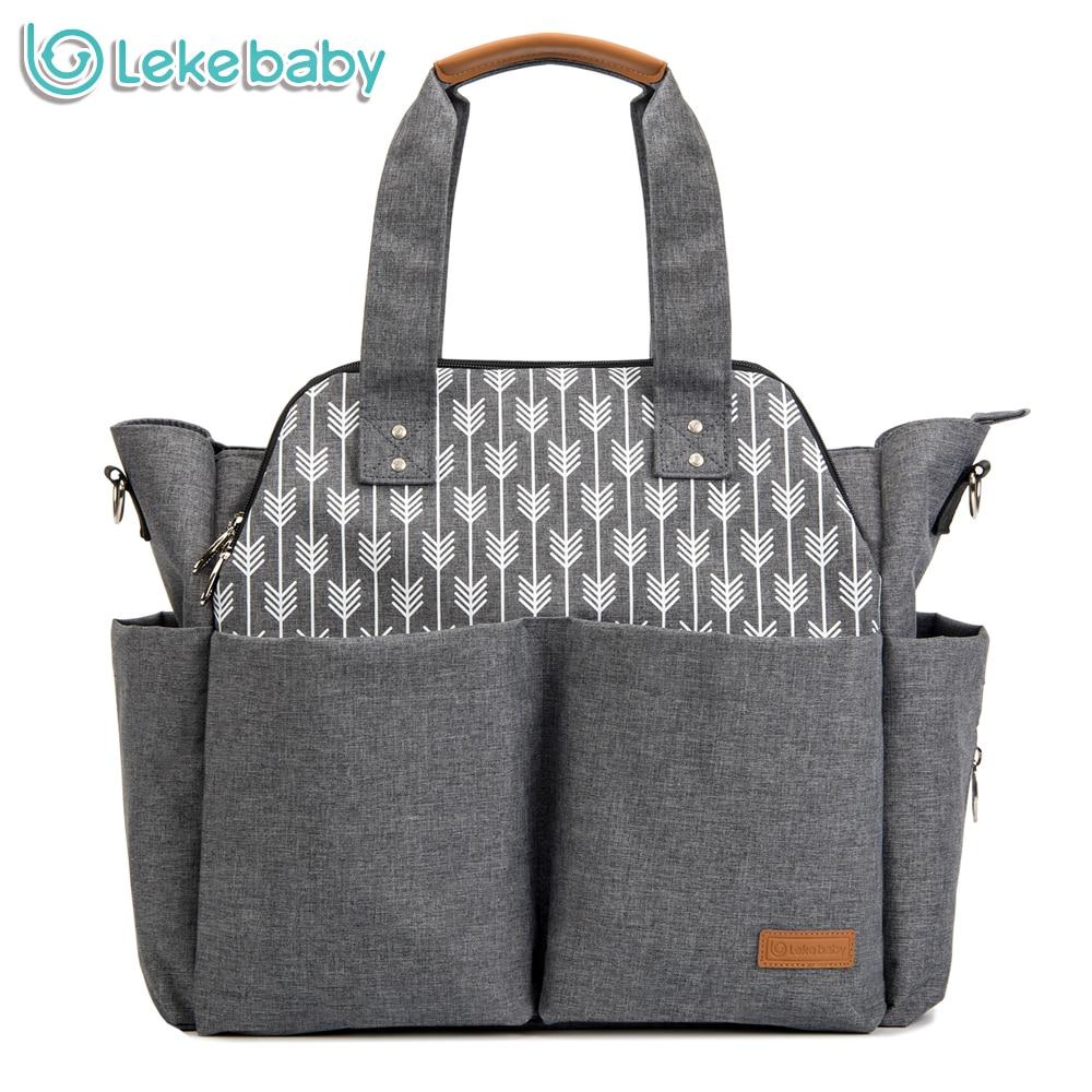 Lekebaby diaper bag multi-functional large capacity baby stroller bag waterproof Mother maternity nappy changing bag organizer