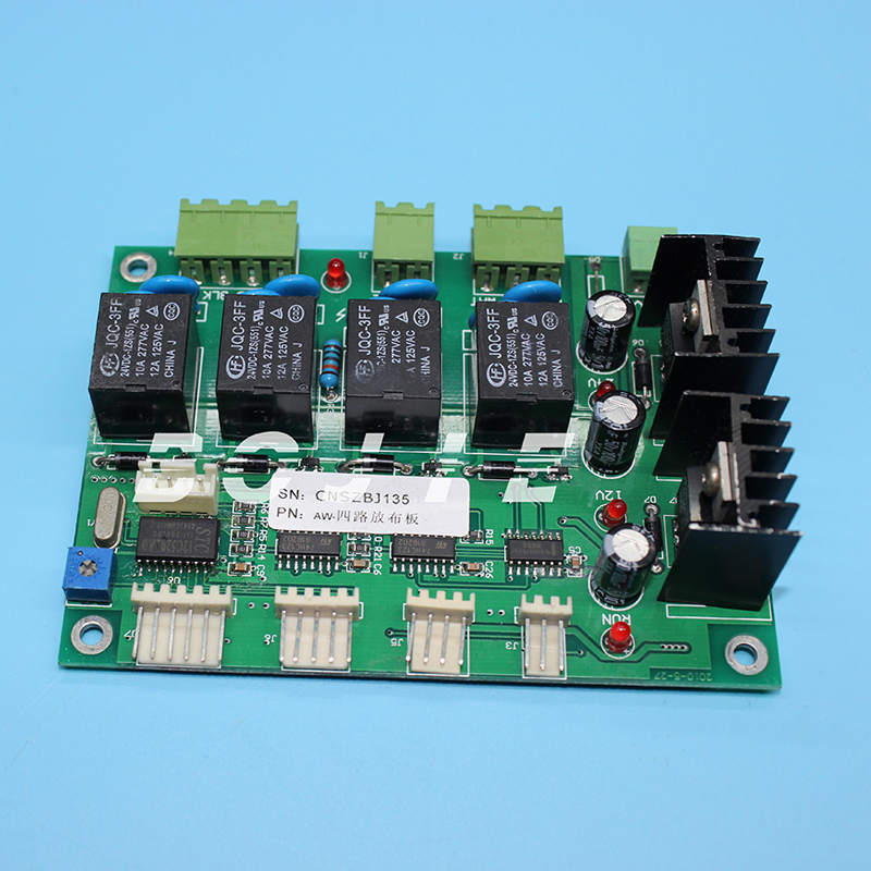 For eco solvent printer media sensor board/allwin take up board 4 ways dc feeding board brand new good quality inkjet printer parts infiniti feeding sensor take up sensor for solvent printer on sale