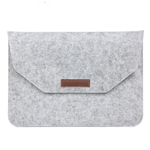 цена на Luxury Wool Felt Soft Laptop Sleeve Bag For Macbook Air Pro Retina 11 12 13 15 Inch Laptop Cover Case For Mac Book Air 13 Inch