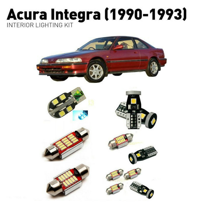 Led Interior Lights For Acura Integra 1990 1993 8pc Led