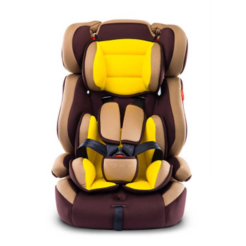 Assento de carro grosso portátil para criança e crianças 5 ponto harness almofadas seguras para 9m 1212y crianças com cinto de segurança segurança assento de bebê
