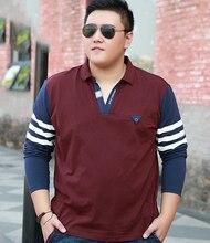 10XL 9XL 8XL 7XL 6XL 5XL 4XL Men's Solid Long Sleeve Polo Shirt Autumn Full Sleeve Warm Shirt Casual Printing Tops Jeans Blue